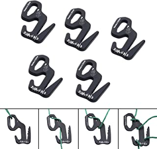 5pcs Tent Rope Buckle 9 Shape Made of Aluminum for Outdoor Camping Rope Tight