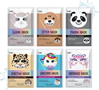 Epielle Character Sheet Masks | Animal Spa Mask | -For All Skin Types |spa gifts for women, Spa Gift, Birthday Party Gift ...