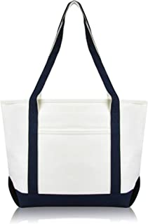 Daily Shoulder Tote Bag Premium Cotton in Navy Blue