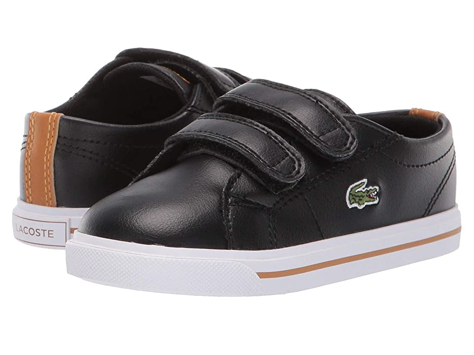 Lacoste Kids Riberac (Toddler/Little Kid) (Black/Dark Tan) Kid