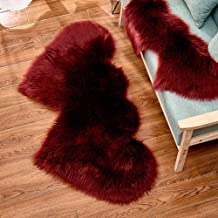 Love Plush Rug Bedroom Living Room Study Cold-Proof Non-Slip Carpet Adult Yoga Children's Game Crawling Mat,2,35 * 70cm