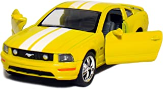 """5"""" 2006 Ford Mustang GT with Stripes 1:38 Scale (Yellow)"""