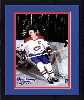 Framed Jean Beliveau Montreal Canadiens Autographed 8