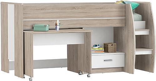 Kombi-Bett Etagenbett Schreibtisch Kinderzimmer Schreib-Schlaf-Kombi  Sweeny I
