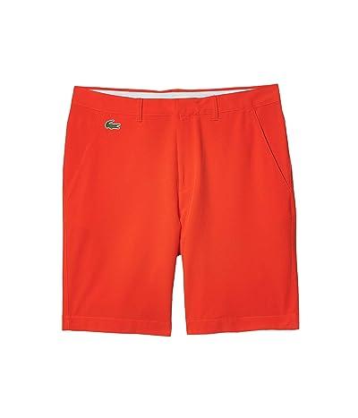 Lacoste Taffetas Solid Bermuda Shorts (Gladiolus) Men