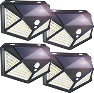 YESDEX Solar Lights Outdoor 100LED 4Pack Motion Sensor Lights, Waterproof Outdoor Wall Light