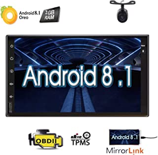 Eincar 7 Android 10 Head Unit Quad Core HD Capacitive Touch Screen Double 2 Din Car Radio Support Bluetooth 1080P Mirrorlink Auto GPS Navigation Stereo System PC Tablet Reverse Camera WiFi 4G USB