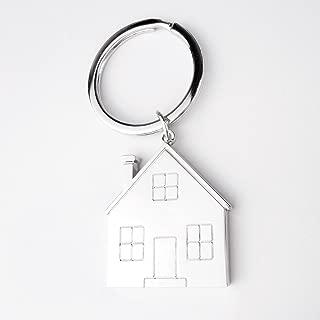 ART + emotions Llavero con casa de Metal–Práctica Colgante para el hogar Llaves o Vivienda Llave con diseño de casa en un diseño–Idea Regalo para alimentador, Compra o para el hogar Inauguración