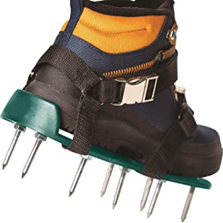 EEIEER Lawn Aerator Shoes, Aerator Shoes with Newest Designed Straps Heavy Duty Spiked Sandals for Aerating Your Lawn or Yard