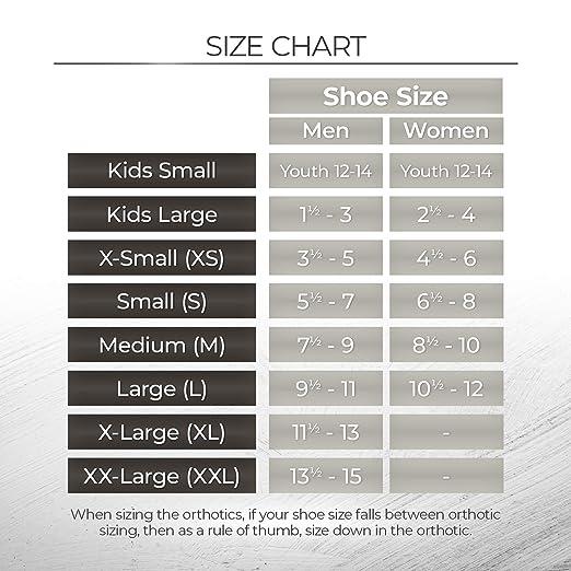 Size XL VASYLI Custom Blue 3//4 Length Orthotic New Mens US SZ 11.5-13