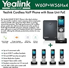 Yealink IP Phone W60P is a bundle of W60B base and W56H handset + (4-UNITS) W56H Handset