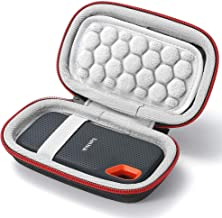 Hard Case for SanDisk 250GB / 500GB / 1TB / 2TB Extreme Portable SSD SDSSDE60, Carrying Storage Bag - not fit for SanDisk Extreme PRO SSD