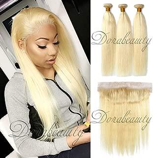blonde human hair bundles with frontal