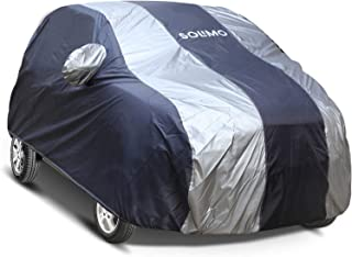 Amazon Brand - Solimo Chevrolet Spark Water Resistant Car Cover (Dark Blue & Silver)
