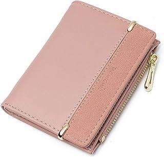 JOSEKO Small Wallet for Women, Elegant PU Leather Wallet Purse Credit Card Holders Money Organizer Clutch