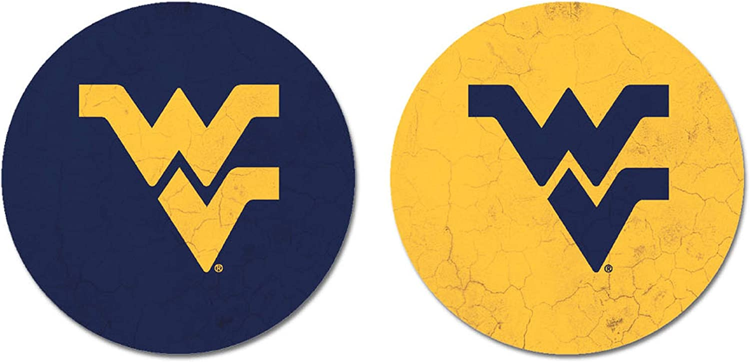 NCAA Legacy West Virginia Mountaineers Car 2-Pac New popularity Coaster Ranking TOP19 Thirsty