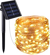 LED Solar String Lights Outdoor, 72ft 200 LED Solar Powered Fairy Light with 8 Lighting Modes,Waterproof Outdoor Solar Lig...