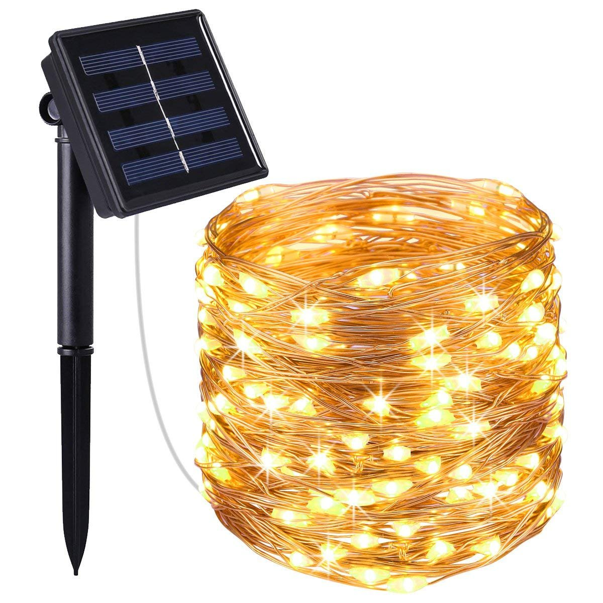 LED Solar String Lights Outdoor, 72ft 200 LED Solar Powered Fairy Light  with 8 Lighting Modes,Waterproof Outdoor Solar Lighting for Home,Garden,Decoration  (Warm White): Amazon.com.au: Lighting