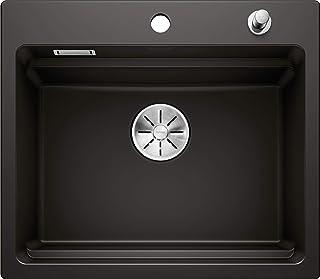 BLANCO ETAGON 6 - Keramikspüle für die Küche für 60 cm breite Unterschränke - aus Keramik - schwarz - 525162