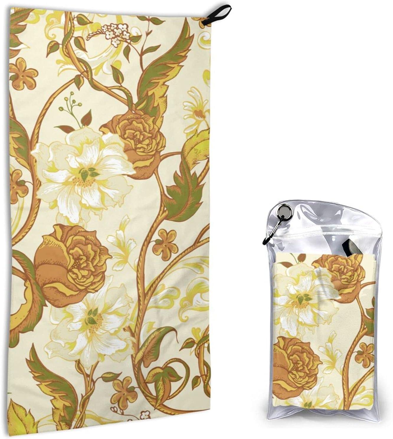 Garden Full of Flowers Microfiber Fast Towel Finally popular brand Ranking TOP19 Beach Dryingsports