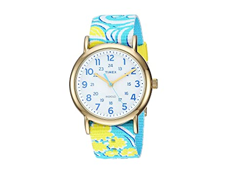 Timex Style Weekender Slip-Thru, WHITE/TURQUOISE 1