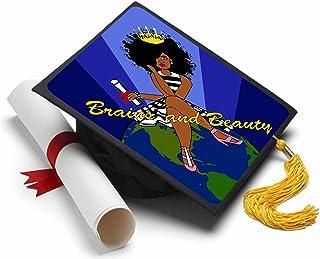 Tassel Toppers Black Queen - Grad Cap Decorated Grad Caps - Motivational Inspirational Grad Caps