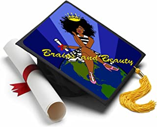 Tassel Toppers Black Queen - Black Girl Magic - Grad Cap Decorated Grad Caps - Motivational Inspirational Grad Caps
