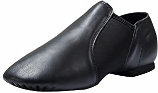Dynadans Women's Leather Upper Slip-on Jazz Shoe