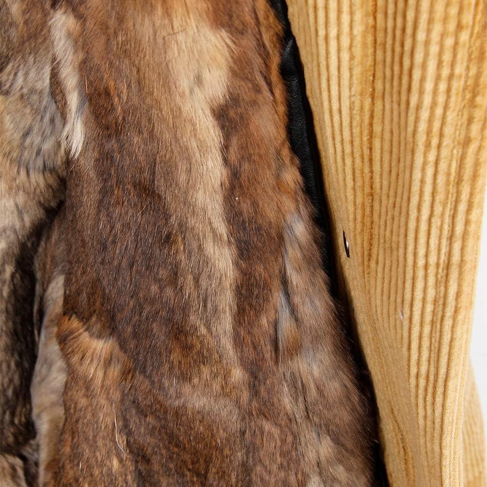SHOUBANG Mantel Winter Wolle Futter Mantel Mantel Damen Parka Pelz Kord Echt Pelzkragen Warme Lange Parka 3-M