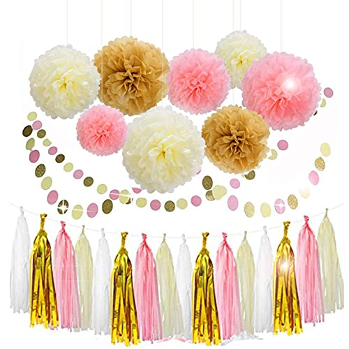 Pink And Gold Flowers For Party Decoration Amazon Com