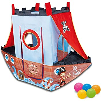 Quickdraw Pirate Ship Indoor & Outdoor Childrens Playhouse Ball Pit Play Tent Balls Included