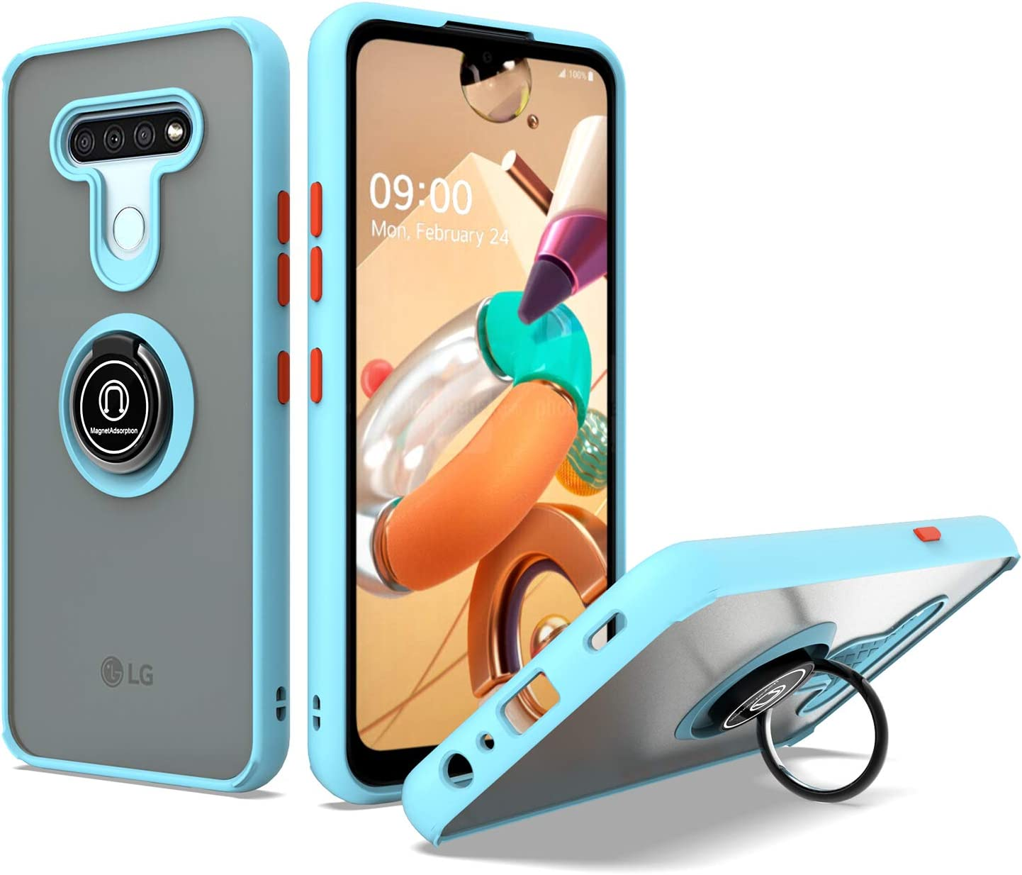 UNC Pro Cell Phone Case for TPU Q51 Chicago Mall Hybrid Max 71% OFF K51 Reflect LG