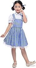 Kid Blue Gingham Dresses Girl Plaid Strappy Skirts Dance Fluffy Tutu Halloween Cosplay Princess Dress Fairy Tale ¡