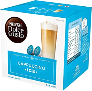 Nescafé Dolce Gusto Cappuccino Ice Café Gourmand, 16 Capsules, 1 Unité