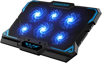 Laptop Cooling Pad, Laptop Cooler with 6 Quiet Led Fans for 15.6-17 Inch Laptop Cooling..