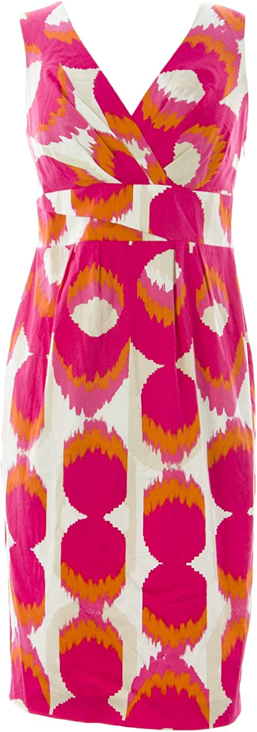 BODEN Women's Printed Smart Shift Dress Pink Multicolord