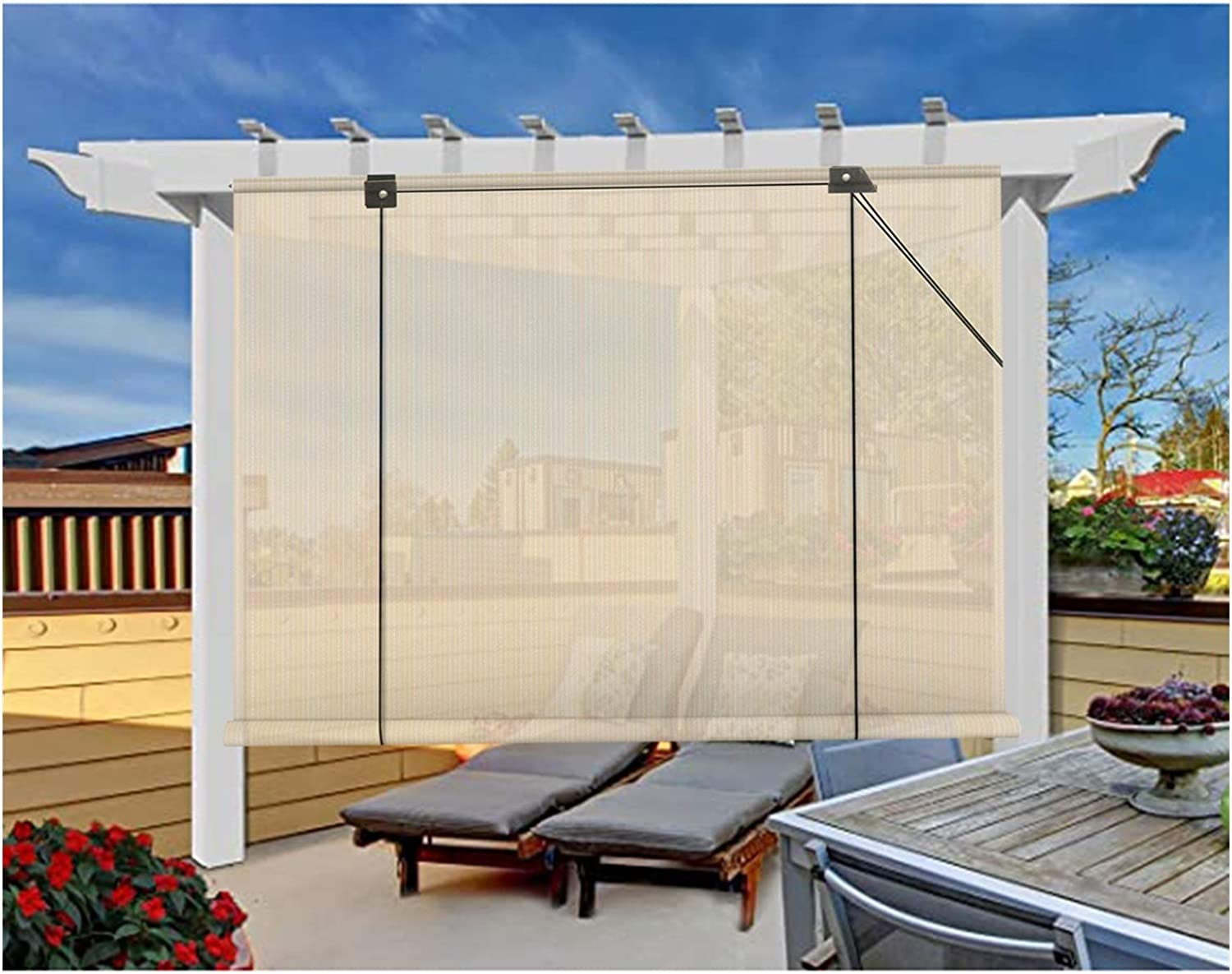 XJJUN Shade Blinds Discount is also underway Privacy Screens and Very popular Heat Insulation Cooling