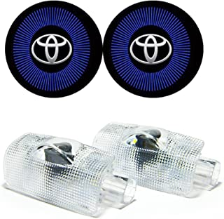 Car Door Projector LED Light HD Shadow Lights for Toyota Avalon Avanza Camry Corolla Crown Highlander Land Cruiser Prius Previa Sequoia Sienna Reiz Prado Tundra Easy Installation (Toyota A7)