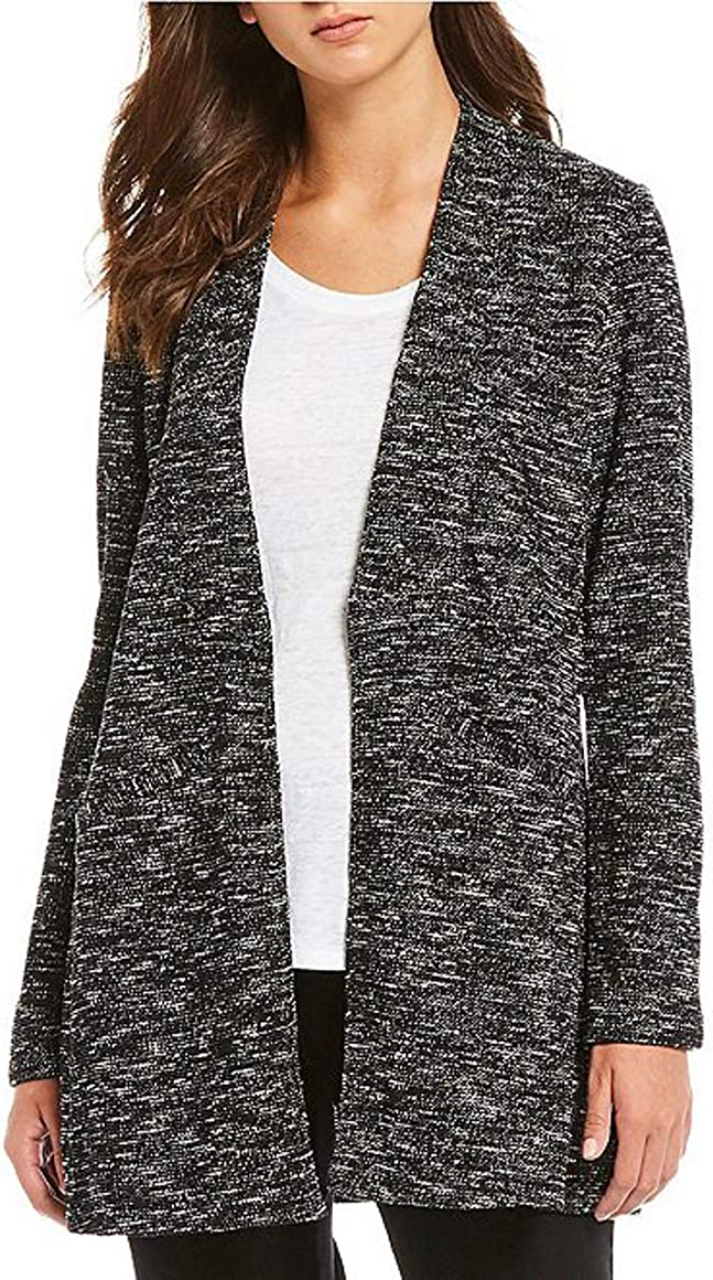 Eileen Fisher Straight Side Slit Long Cardigan, Size-S