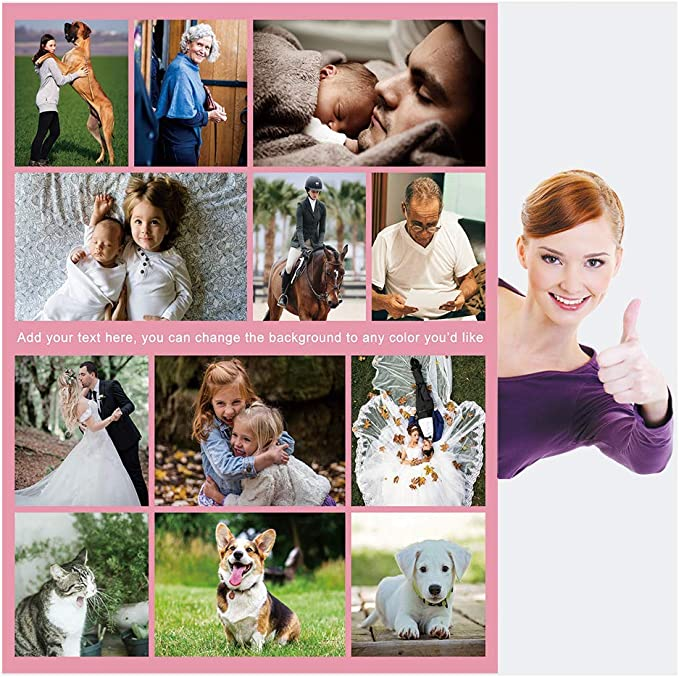 80x120cm Baby 30/×50 Haisimiery Personalised Photo Fleece Blanket Customised Throw with Picture Birthday Wedding Gift for Adult Baby Pet 12 Photos NO.01