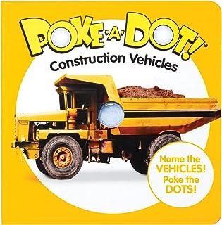 Melissa & Doug 41533 Poke-a-Dot Construction Vehicles | Activity Books | 3+ | Gift for Boy or Girl