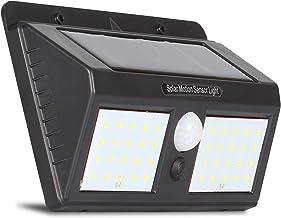 Luminária Solar Dupla 40 Leds Arandela de Parede com Sensor de Presença e Movimento Automático para Luz Externa