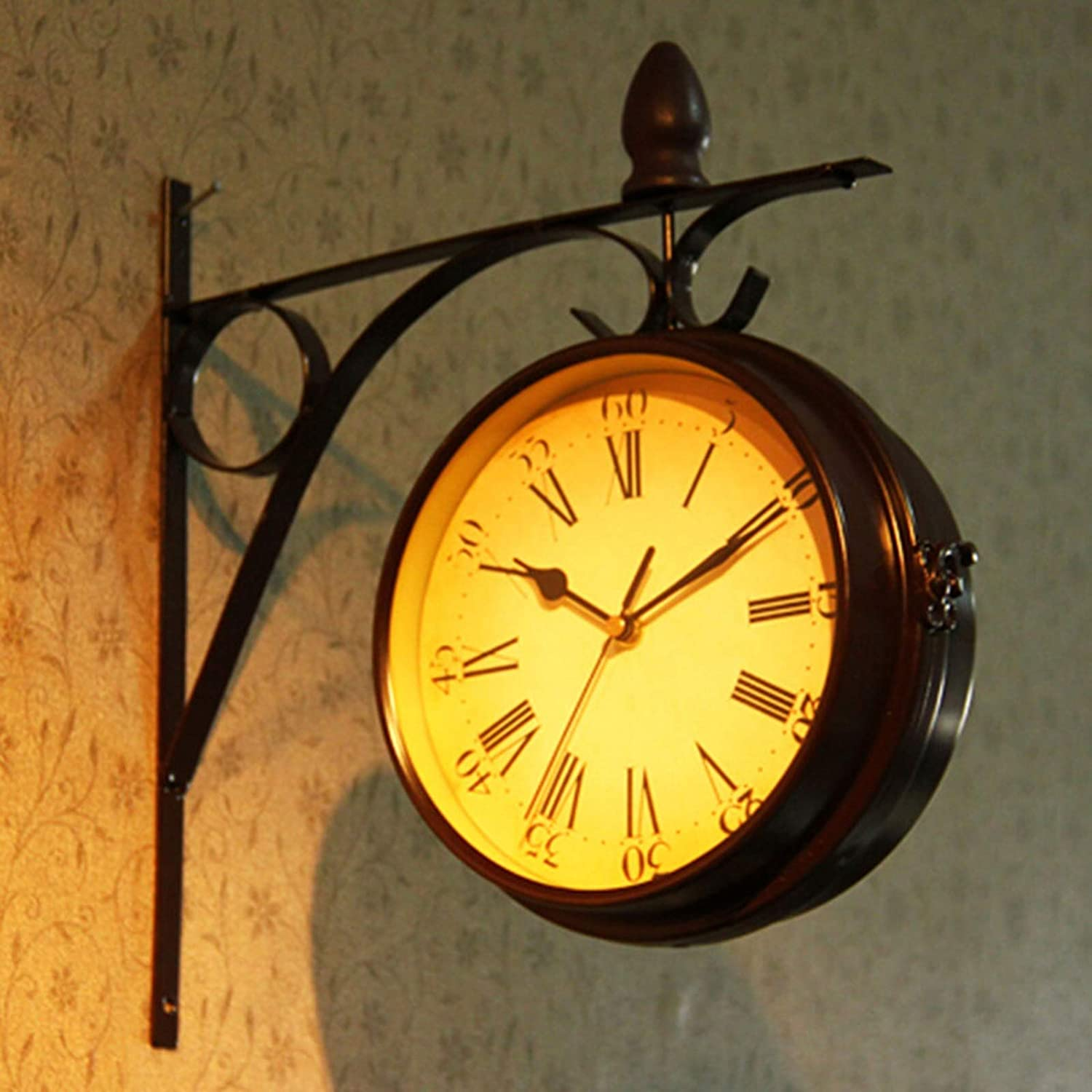 JYYF Retro Double Sided Wall Bracket Antique famous 2021 C Clock