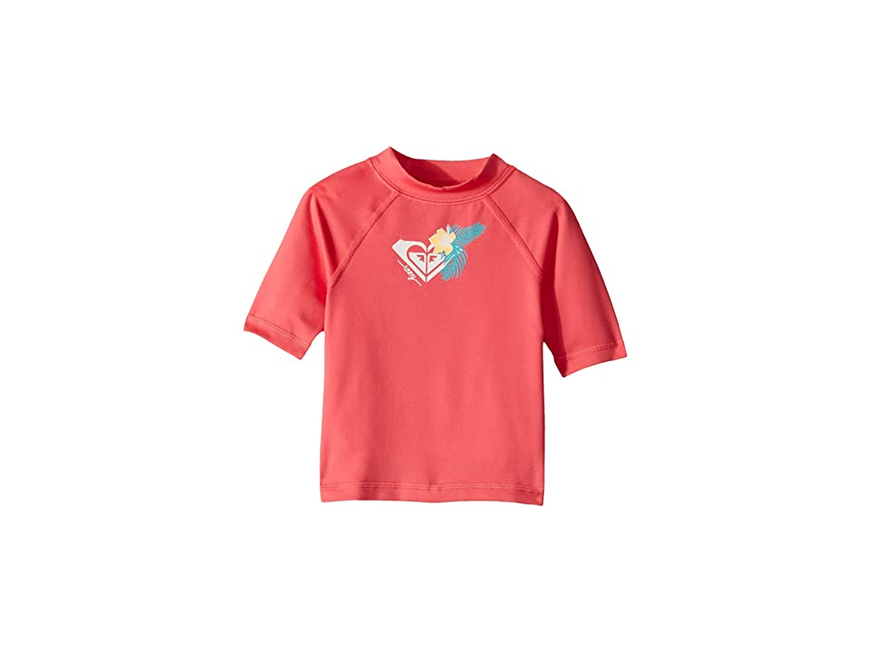 Roxy Kids Hawaii Short Sleeve Rashguard (Big Kids) (Honey Suckle) Girl