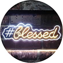 Blessed Hashtag Dual Color LED Neon Sign White & Yellow 600 x 400mm st6s64-i3497-wy
