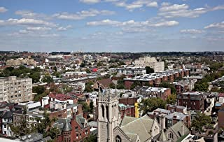 Photograph - View looking east from the top of The Cairo apartment building, 1615 Q St, NW, Washington, D.C.- Fine Art Photo Reporduction 44in x 30in