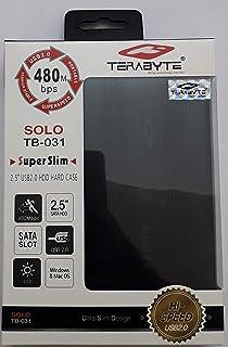 "Terabyte Gold 2.5"" USB 2.0 Hard Drive SATA Portable CASING Enclosure -Black Color"