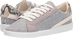 Grey Croco Print Leather