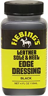 Fiebing's Leather Sole & Heel Edge Dressing - Shoe Shine Finish - Black - 4 oz