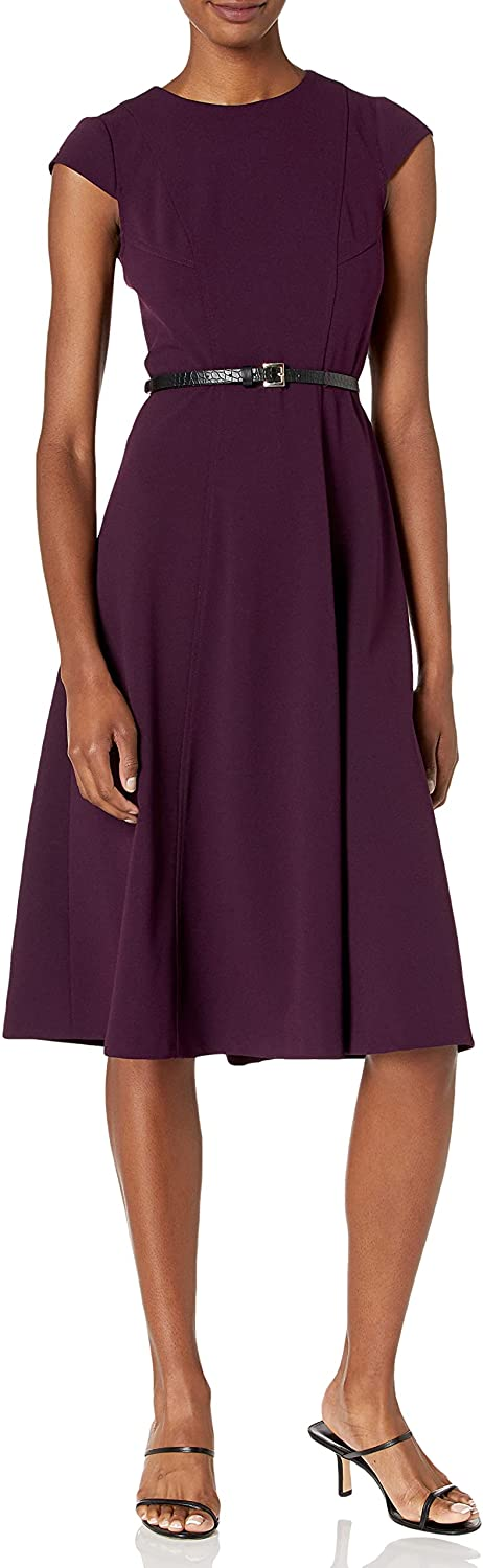 Tommy Hilfiger New mail order Women's Classic Belted Midi Fit Free shipping and Dress Flare